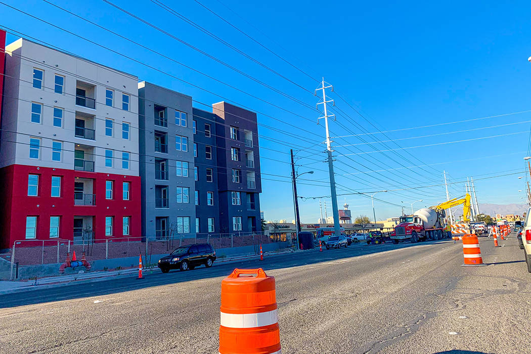 A pair of road improvement projects is set to make a stretch of Maryland Parkway near UNLV a smoother commute by year's end. (Mick Akers/Las Vegas Review-Journal)