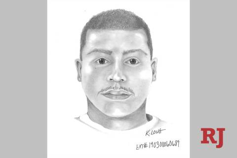 Las Vegas police released a composite sketch on Tuesday of a man wanted in a series of attempted child luring cases near schools spanning the valley. (Las Vegas Metropolitan Police Department)