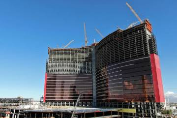 The Chinese-themed Resorts World Las Vegas is under construction on the former site of the Stardust on Thursday, March 7, 2019. (Michael Quine/Las Vegas Review-Journal) @Vegas88s