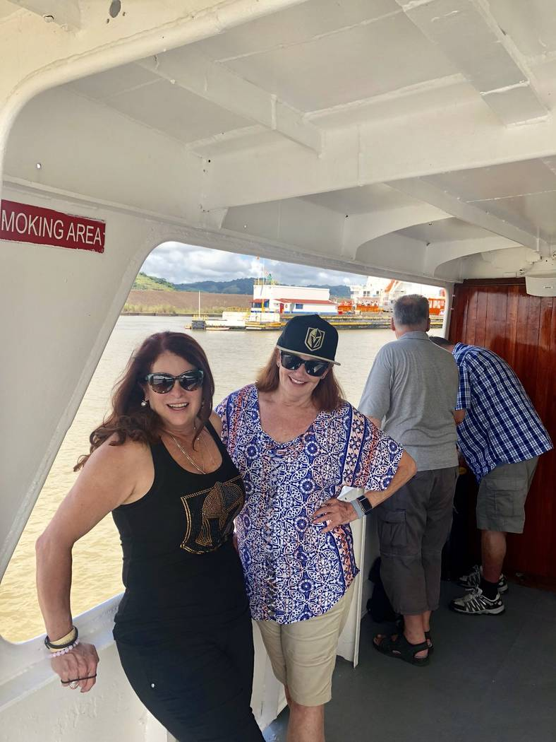 Henderson Mayor Debra March, left, used campaign funds to pay for a 2018 trip to Panama with Sallie Doebler, vice president of corporate partnerships for the Las Vegas Metro Chamber of Commerce. T ...