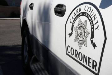 A Clark County Coroner and Medical Examiner vehicle parked at headquarters at 1704 Pinto Lane in Las Vegas on Thursday, Sept. 28, 2017. Bizuayehu Tesfaye Las Vegas Review-Journal @bizutesfaye