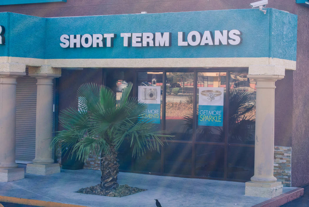 A payday loan store is seen on West Charleston Avenue in Las Vegas on Wednesday, June 1, 2016. (Las Vegas Review-Journal file photo)