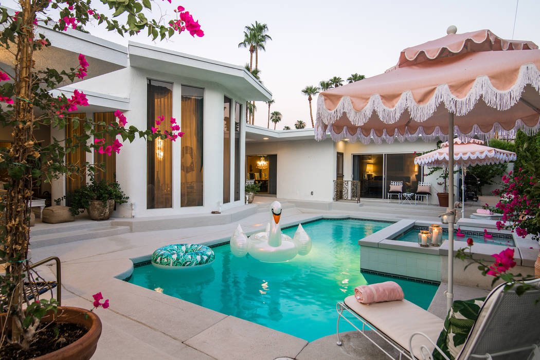 The pool area. (Berkshire Hathaway HomeServices California Properties)