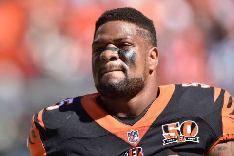 In this Oct. 1, 2017, file photo, Cincinnati Bengals outside linebacker Vontaze Burfict walks on the field before an NFL football game against the Cleveland Browns in Cleveland. (AP Photo/David Ri ...