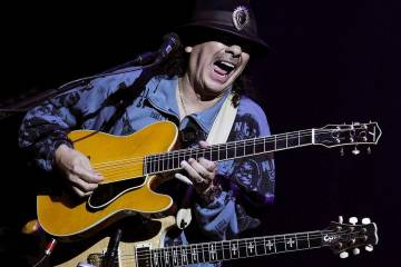 Santana performs at the House of Blues in Mandalay Bay in Las Vegas on Wednesday, May 2, 2012. (Las Vegas Review-Journal file photo)