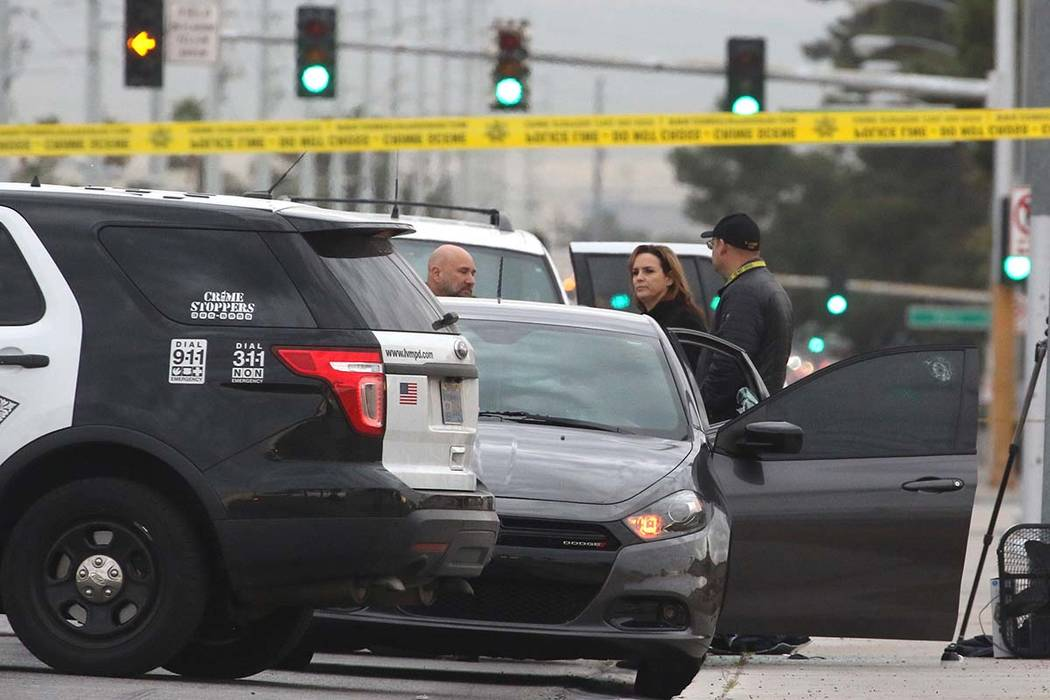 The Metropolitan Police Department is investigating an apparent murder-suicide in the 5400 block of Eastern Avenue on Wednesday, March 20, 2019, in Las Vegas. Bizuayehu Tesfaye Las Vegas Review-Jo ...