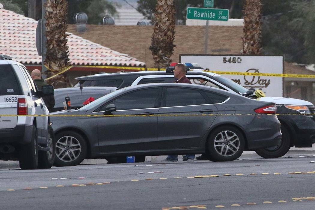 The Metropolitan Police Department is investigating an apparent murder-suicide in the 5400 block of Eastern Avenue on Wednesday, March. 20, 2019, in Las Vegas. Bizuayehu Tesfaye Las Vegas Review-J ...