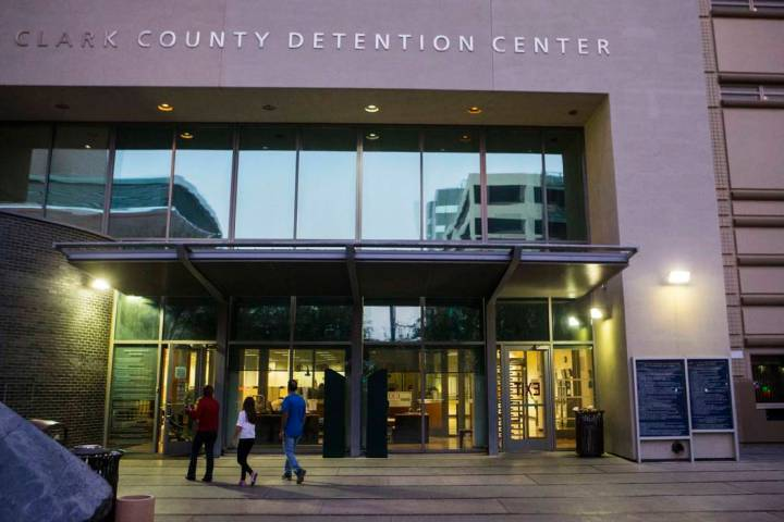 Clark County Detention Center in downtown Las Vegas (Chase Stevens/Las Vegas Review-Journal) @csstevensphoto