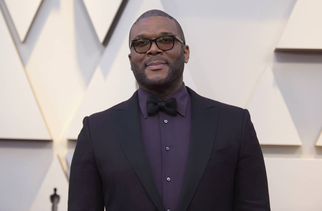 In this Feb. 24, 2019 file photo, Tyler Perry arrives at the Oscars at the Dolby Theatre in Los Angeles. (Richard Shotwell/Invision/AP, File)