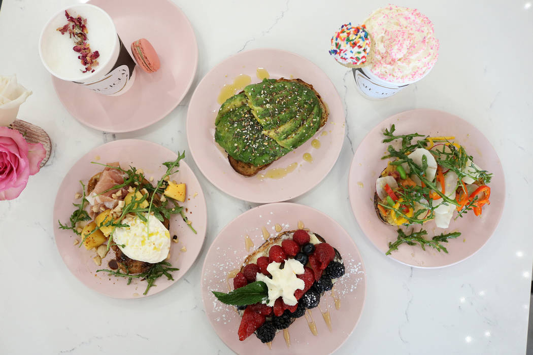 Cafe Lola in Las Vegas serves light bites in a feminine cafe. (Janna Karel Las Vegas Review-Journal)