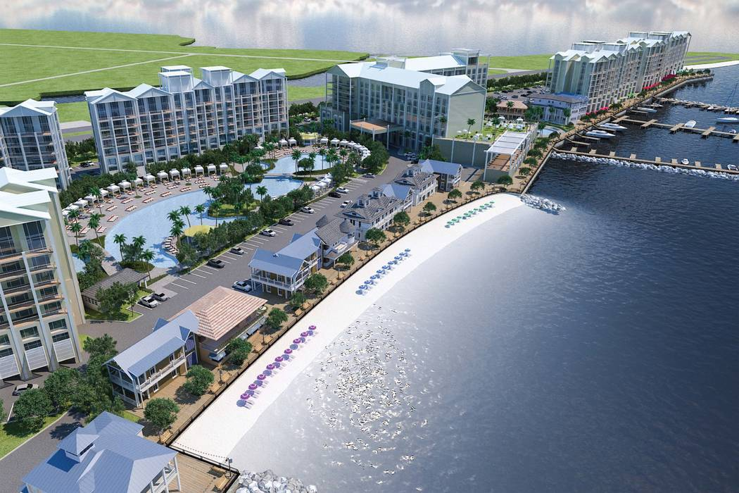 Las Vegas-based Allegiant Travel Co. entered a new era for the company Tuesday, March 19, 2019, breaking ground on a resort in Punta Gorda, Florida, with nearly 700 rooms and suites. (Allegiant Tr ...