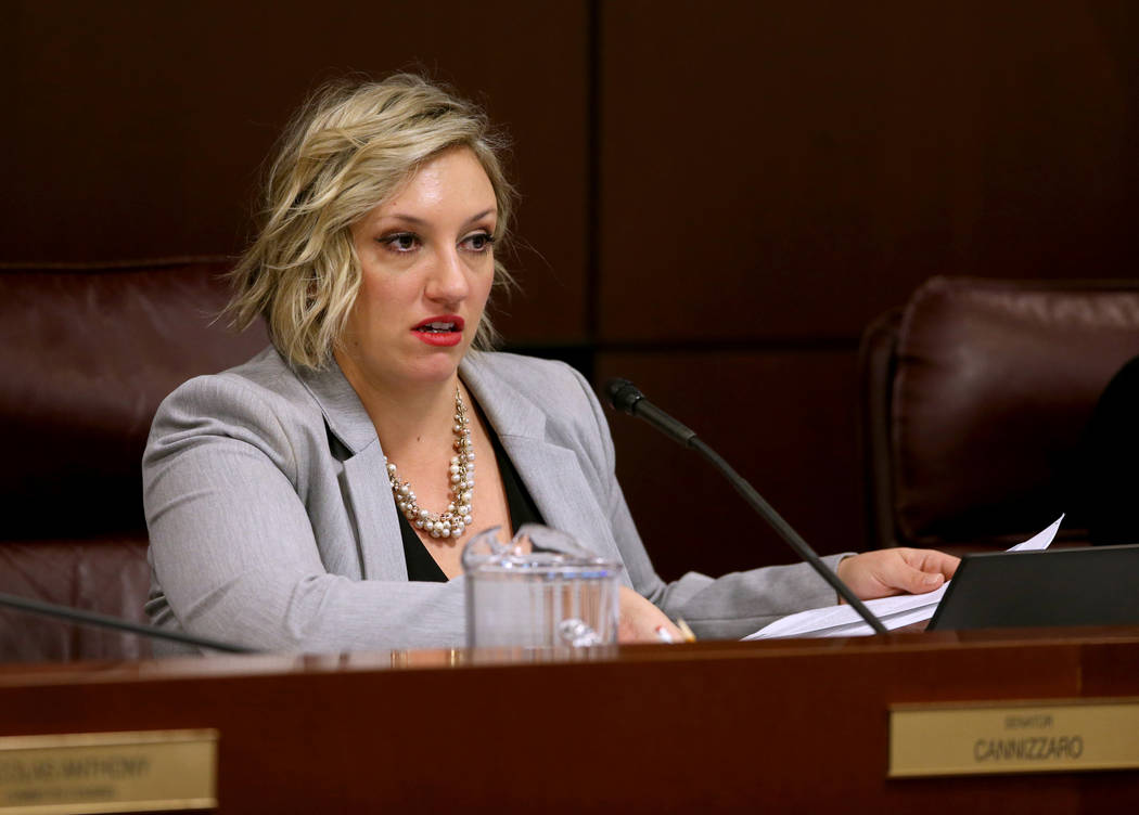 Sen. Nicole Cannizzaro, D-Las Vegas, presides during a Judiciary Committee meeting in the Legislative Building in Carson City Wednesday, Feb. 6, 2019. (K.M. Cannon/Las Vegas Review-Journal) @KMCan ...
