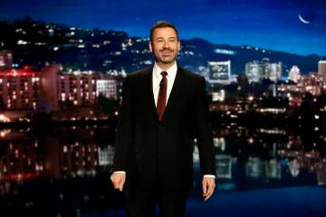 """Jimmy Kimmel Live!"" airs every weeknight at 11:35 p.m. Pacific time. The show is originating from Las Vegas, at Zappos Theater, from April 1-5. (ABC/Randy Holmes)"