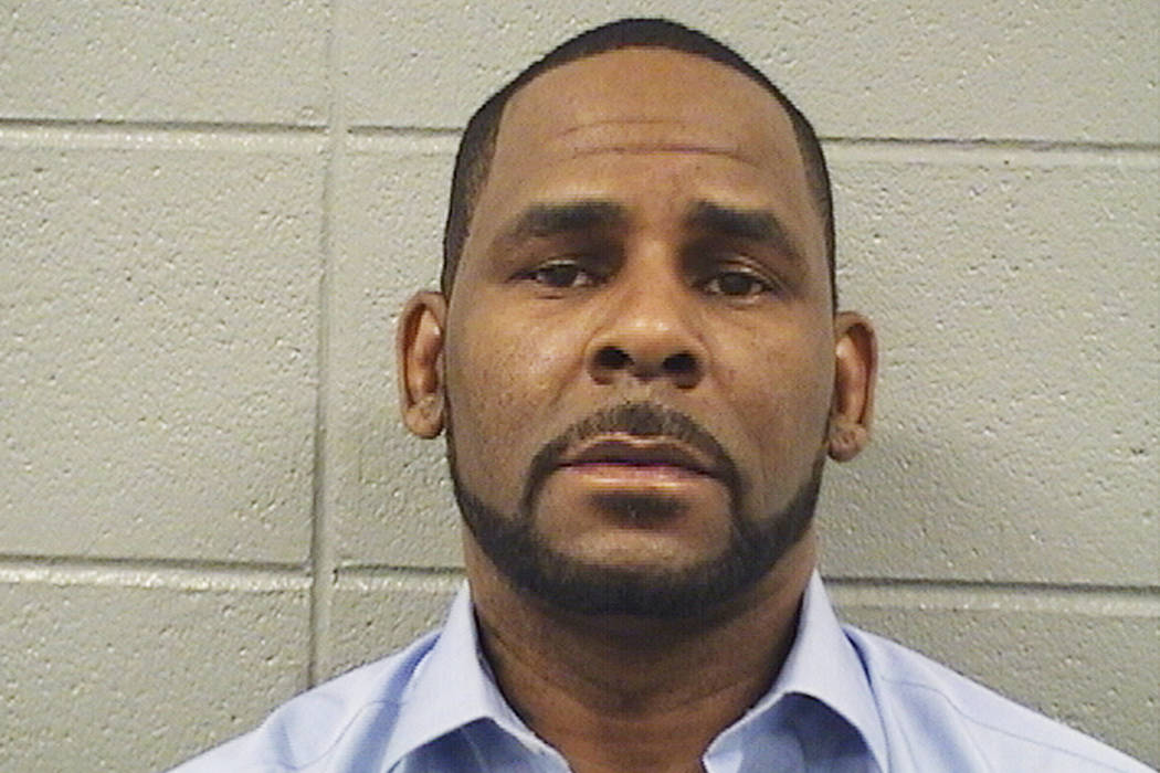 A booking photo released by the Cook County Sheriff's Office is R. Kelly on Wednesday, March 6, 2019. (Cook County Sheriff's Office via AP)