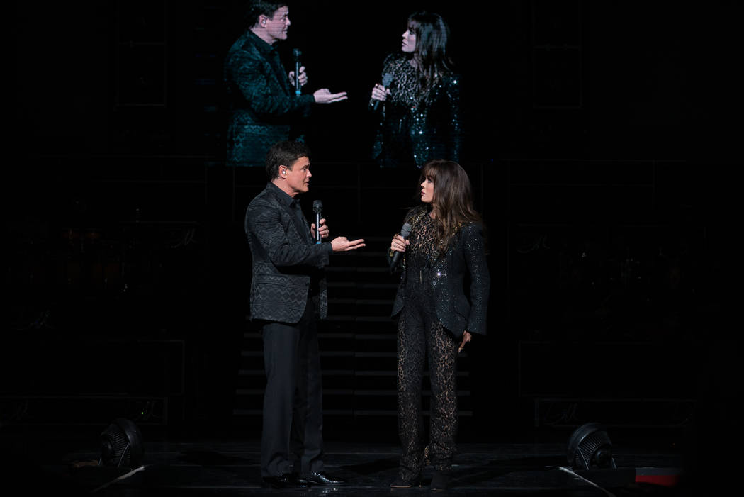 Marie Osmond and Donny Osmond perform in their Las Vegas show at the Flamingo Las Vegas. The duo have announced they will close the production in November after an 11-year run. (Caesars Entertainm ...