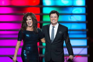 Marie Osmond and Donny Osmond perform in their Las Vegas show at the Flamingo Las Vegas. The duo has announced they will close the production in November after an 11-year run. (Caesars Entertainment).
