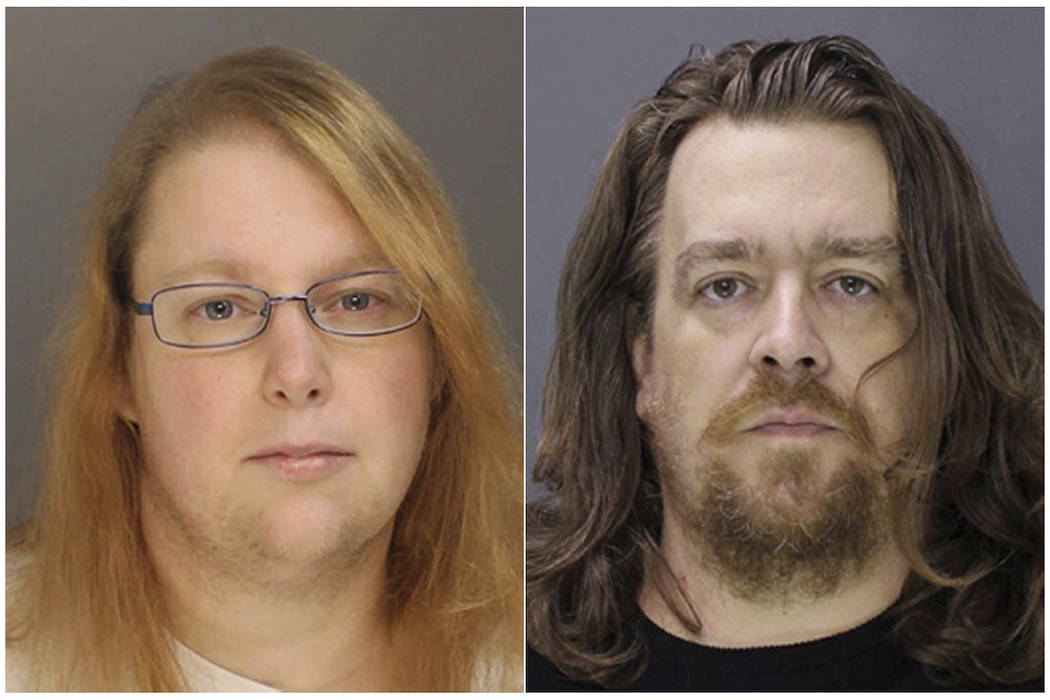 This combination of file photos provided on Sunday, Jan. 8, 2017, by the Bucks County District Attorney shows Sara Packer, left, and Jacob Sullivan. (Bucks County District Attorney via AP, File)