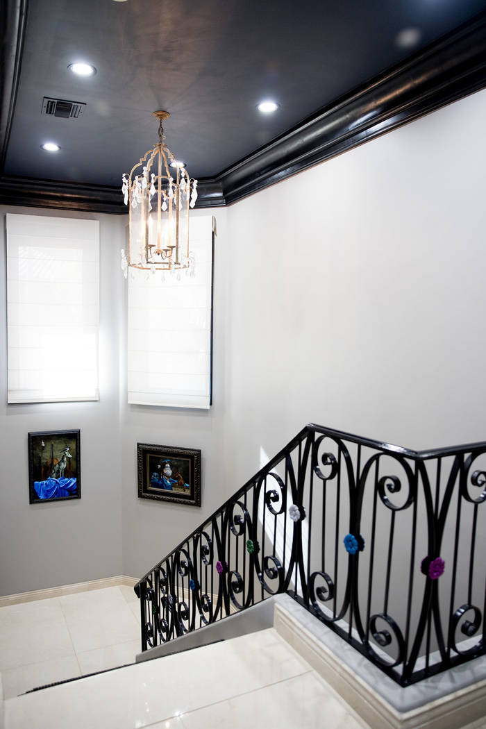The two-story home measures 8,845 square feet. (Tonya Harvey Real Estate Millions)