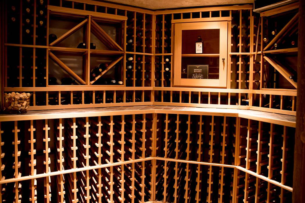 A wine cellar holds more than 1,000 bottles. (Tonya Harvey Real Estate Millions)