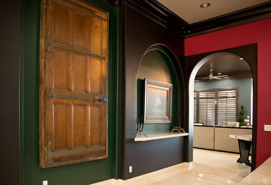 A 200-year-old door hangs on the wall. (Tonya Harvey Real Estate Millions)
