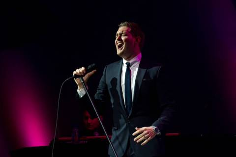 Michael Buble performed ala old Vegas Saturday at the intimate events center of the Lou Ruvo Cl ...