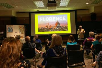 "About 30 people attended ""Bella Italia,"" a presentation from Lucia Taylor, the circulation depa ..."