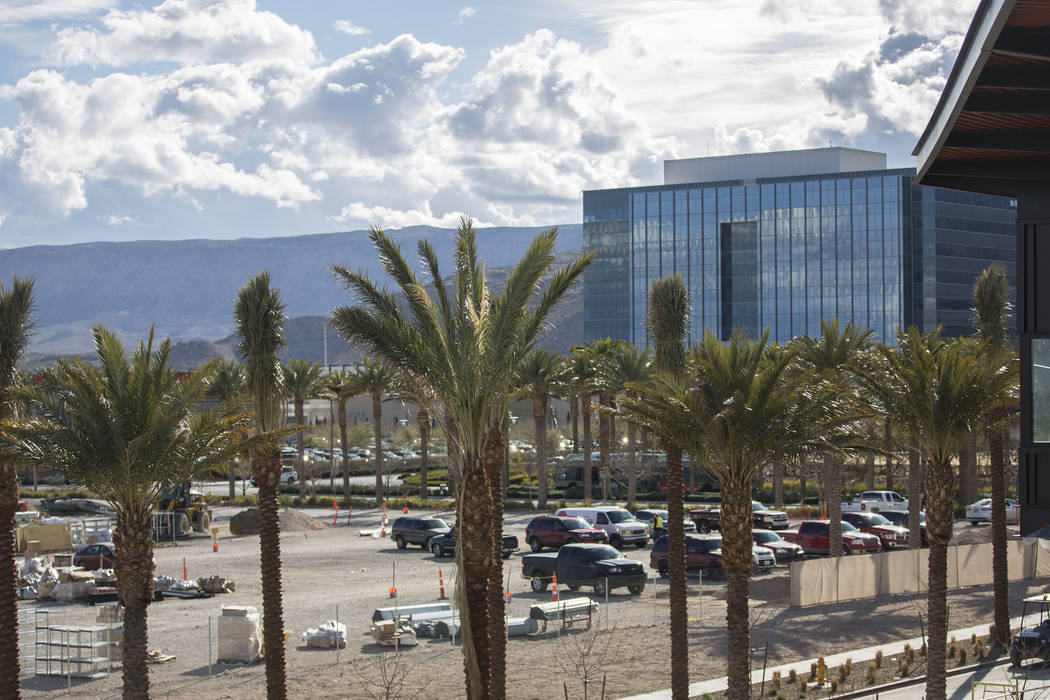 One of a group of parking lots at Las Vegas Ballpark on Thursday, March 21, 2019, in Las Vegas. (Benjamin Hager Review-Journal) @BenjaminHphoto