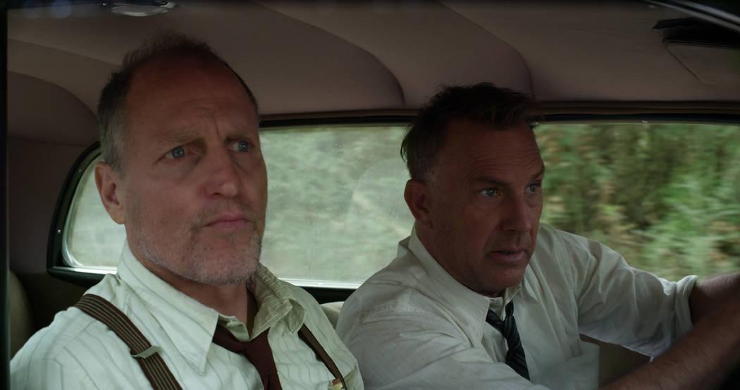 """THE HIGHWAYMEN (2019) - pictured L-R: Woody Harrelson (""""Maney Gault"""") and Kevin Costner (""""Frank Hamer"""") Photo Courtesy of Netflix Photo Courtesy of Netflix"""