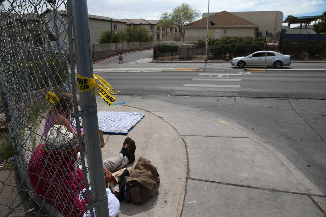 The intersection of W. Owens Avenue and Stocker Street, across from The Salvation Army, where a pedestrian was killed in a car accident this morning, in North Las Vegas, Tuesday, March 12, 2019. E ...