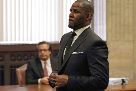 R. Kelly appears for a hearing at the Leighton Criminal Court Building on Friday, March 22, 2019 in Chicago. An overseas trip by R. Kelly is in limbo after his criminal attorney asked for more tim ...
