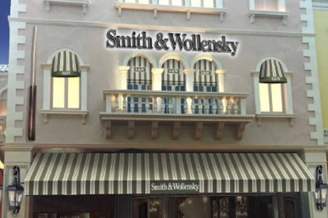 The exterior of Smith & Wollensky's new Las Vegas Strip restaurant at The Venetian is expected to open in May. (Smith & Wollensky)