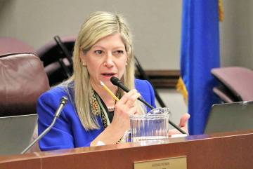 Assemblywoman Lisa Krasner, R-Reno, seen in 2017 in Carson City. (Las Vegas Review-Journal)