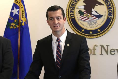 U.S. Attorney Nicholas Trutanich, seen March 11, 2019, in Las Vegas. (K.M. Cannon/Las Vegas Review-Journal) @KMCannonPhoto