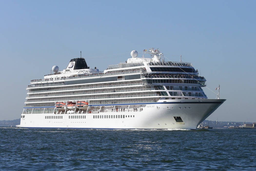 Viking Sky, the third 930-guest ocean ship from Viking on Oct. 4, 2017. (Mark Von Holden/AP Images for Viking Cruises, File)