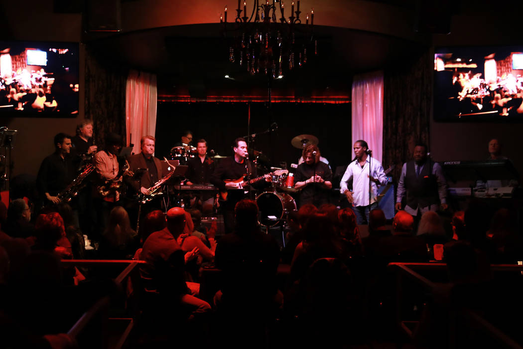 Santa Fe & The Fat City Horns perform at the Copa Room in Las Vegas on Monday, March 26, 2018. Andrea Cornejo Las Vegas Review-Journal @dreacornejo