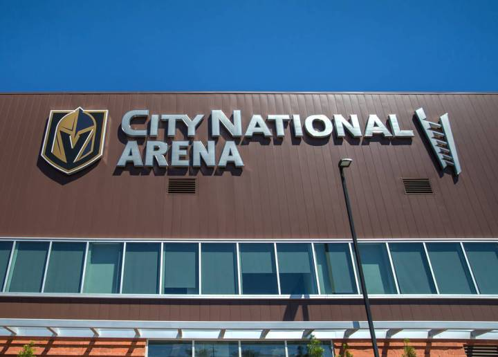 This Aug. 23, 2018, file photo shows the City National Arena in Las Vegas. Benjamin Hager Las Vegas Review-Journal @benjaminhphoto
