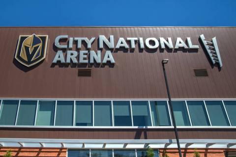 City National Arena in Las Vegas is seen in August 2018. (Benjamin Hager Las Vegas Review-Journal @benjaminhphoto)