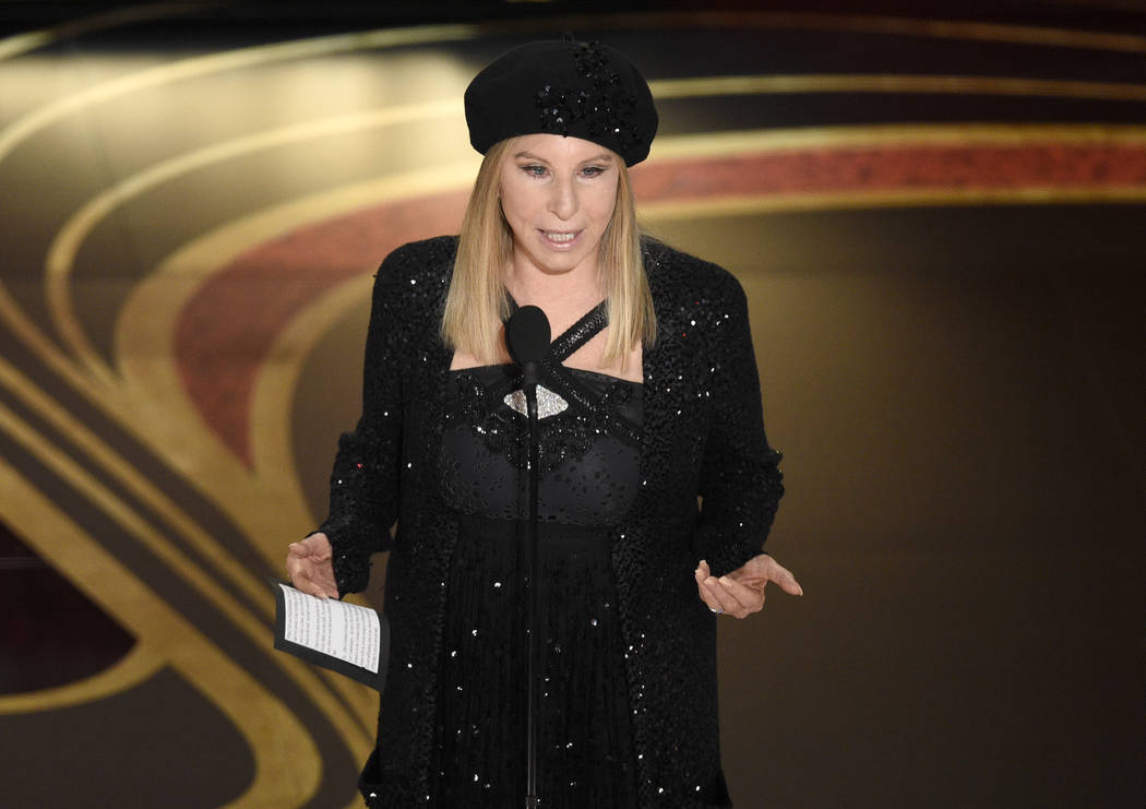 "FILE - In this Feb. 24, 2019 file photo, Barbra Streisand introduces ""BlacKkKlansman"" at the Oscars at the Dolby Theatre in Los Angeles. Streisand is coming under intense criticism onlin ..."