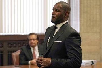 R. Kelly appears for a hearing Friday, March 22, 2019, at the Leighton Criminal Court Building in Chicago. (E. Jason Wambsgans/Chicago Tribune via AP, Pool, File)