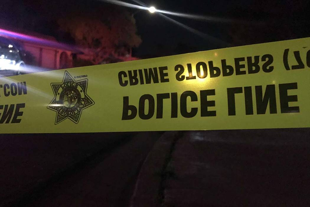 Las Vegas police are investigating the killing of one person and apparent suicide attempt of another in the central valley. (Lukas Eggen/Las Vegas Review-Journal)