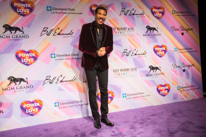 Lionel Richie poses on the red carpet for Keep Memory Alive's 23rd annual Power of Love gala, raising money for Cleveland Clinic Lou Ruvo Center for Brain Health's programs and services, at the MG ...