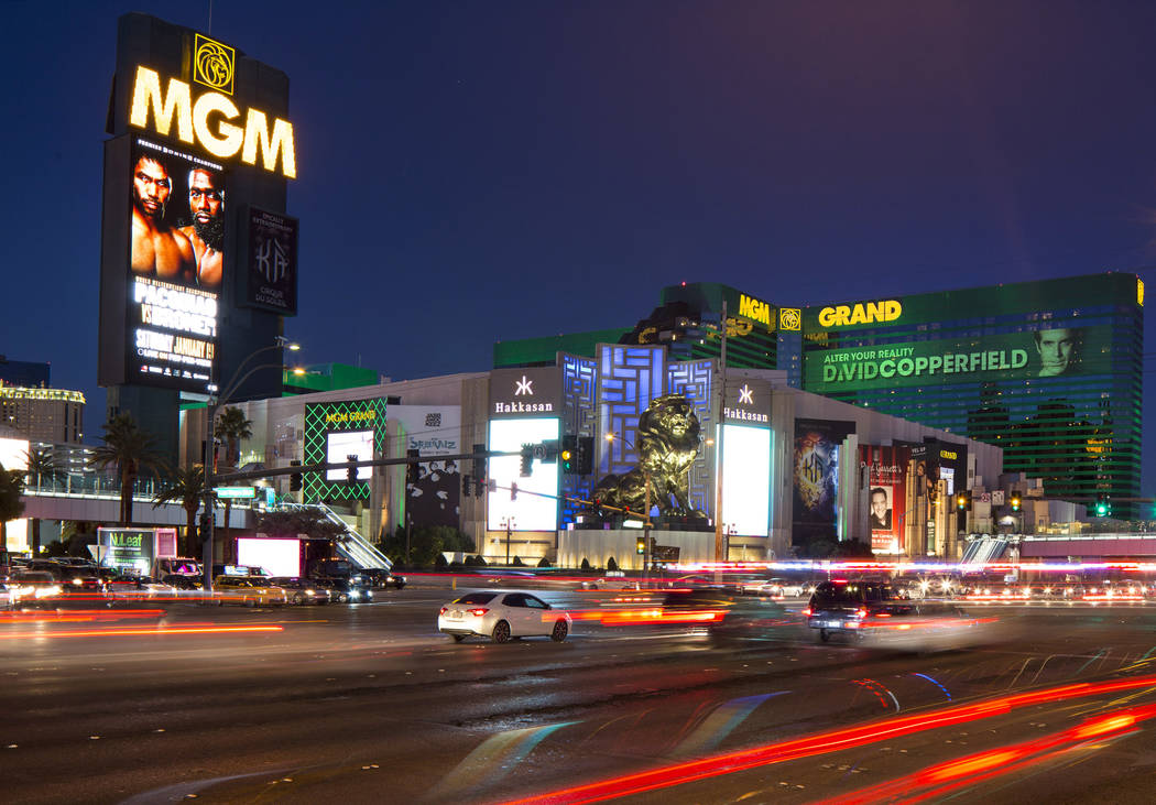 MGM Grand on the Las Vegas Strip. (Richard Brian/Las Vegas Review-Journal) @vegasphotograph