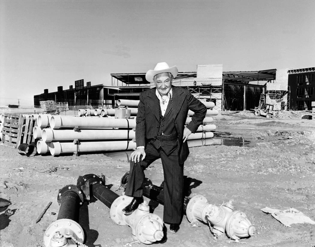 12/04/1978 Sam Boyd at the construction site of Sam's Town.Credit: Las Vegas News Bureau