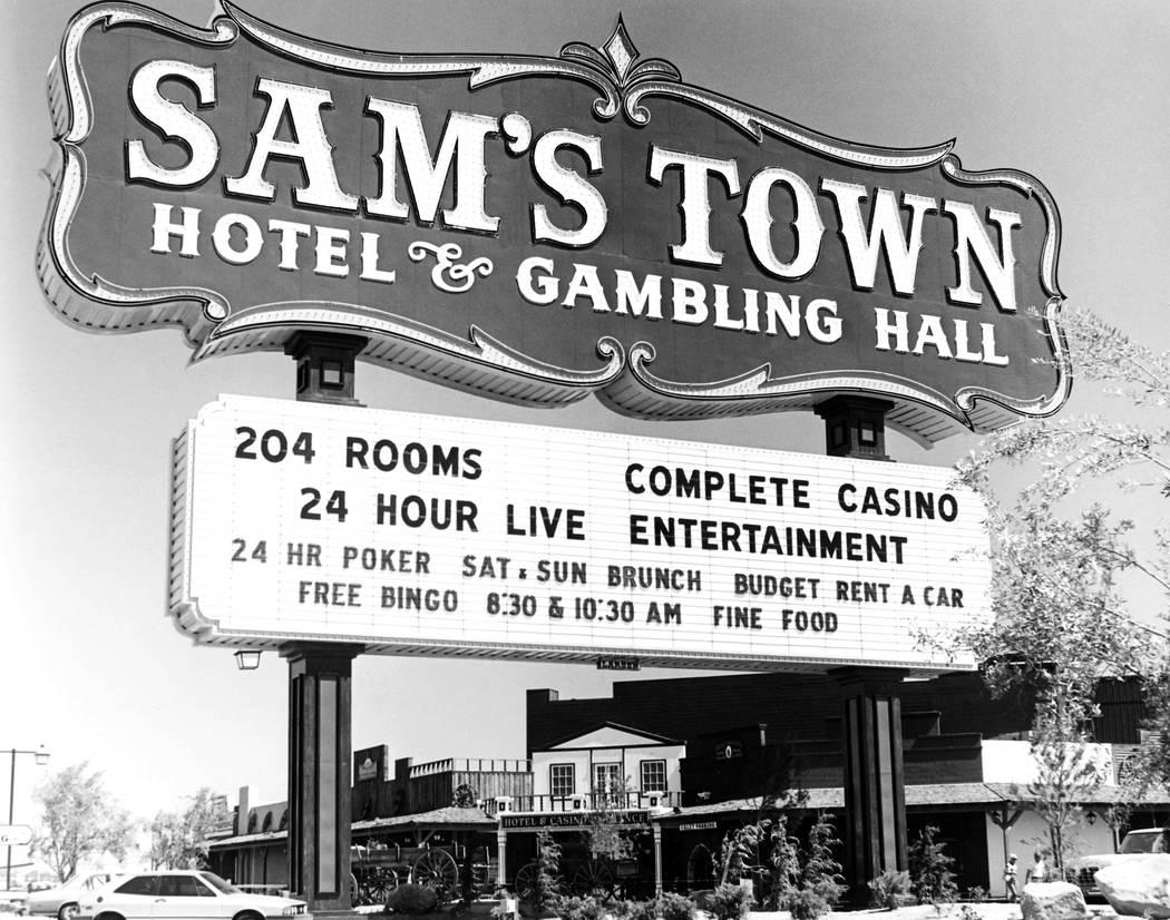 Sams Town marquee July 3, 1979 Credit: Las Vegas News Bureau