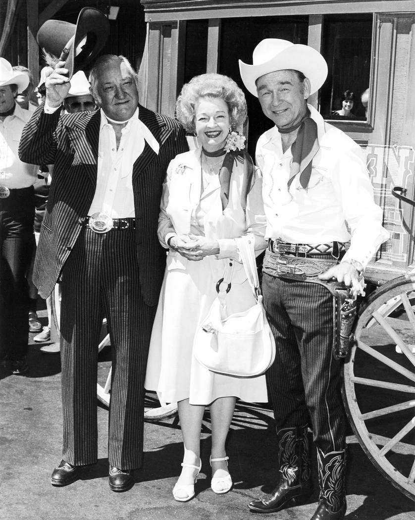 8/21/1980 Sam's Town Roy Rogers, Dale Evans with Sam Boyd Credit: Las Vegas News Bureau