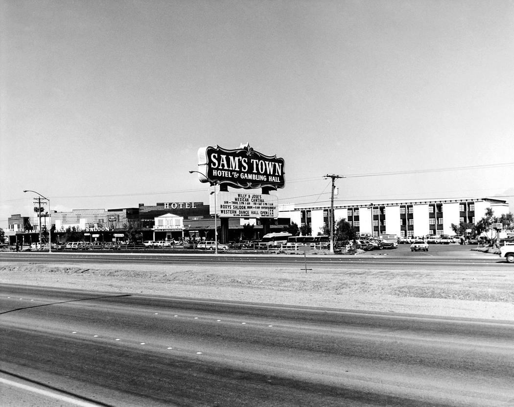 Exterior of Sam's Town 02/11/1982 Credit: Las Vegas News Bureau