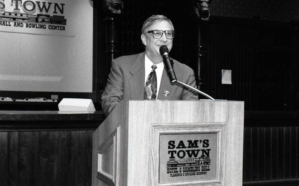 6/30/94: Bill Boyd at the opening of 6th Expansion at Sam's Town.Credit: Darrin Bush/Las Vegas ...