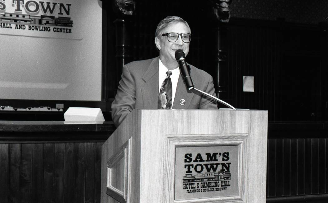 6/30/94: Bill Boyd at the opening of 6th Expansion at Sam's Town.Credit: Darrin Bush/Las Vegas ...