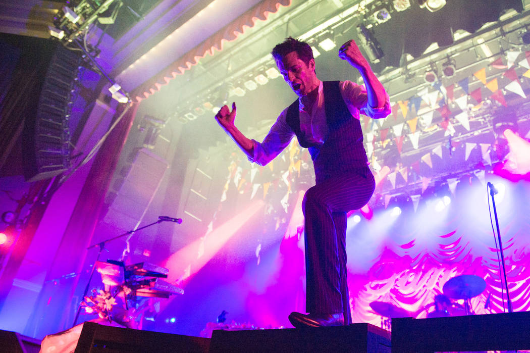 Brandon Flowers and The Killers perform Friday at Sam's Town Live! to celebrate the 10th annive ...