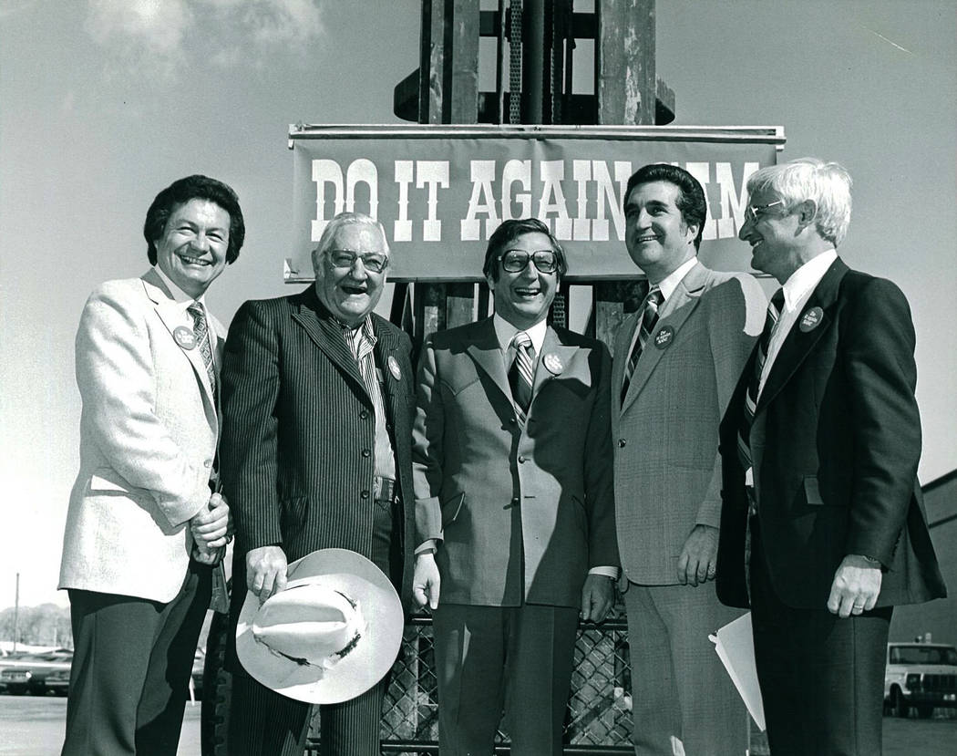 Boyd Gaming Groundbreaking of Sam's Town first expansion in 1981. Manny Cortez, County Commiss ...